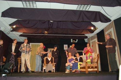 Jean-Claude martineau et les acteurs de Villemoisan. Quelle belle soirée !